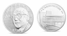 2015 LE CORBUSIER - France 10 Euro 22,2 g ag  BE (5000 ex)