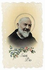 St. Padre Pio Vintage Replica Holy Card NEW SKU MT027