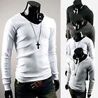 Mens Long Sleeve Tee Tops Casual Hooded Shirt Hoodies Sweatshirt Jumper Pullover