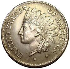 A433) 1 Dollar 1851 Bogen  Vereinigte Staaten  Amerika Injun  Medaille