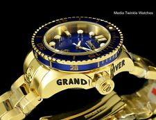 Invicta 38mm WOMEN'S Grand Diver Gen II Quartz Gold Tone & BLUE Bracelet Watch