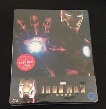 IRON MAN Blu-Ray SteelBook KimchiDVD Korea exclusive 1/4 Slip New & Rare 1/700.