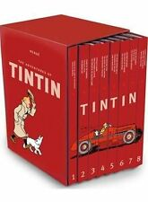 The Complete Adventures of Tintin Collection 8 Books Gift Box Set by Herge