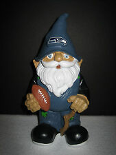 """NFL Seattle Seahawks Forever Collectibles 8"""" Tall Garden Gnome Football"""