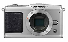 "OLYMPUS PEN E-P1 12.3MP DIGITAL CAMERA (BODY ONLY) & ACCESSORIES - SILVER 3"" LCD"