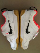 NEW Girls Nike Lykin Sneakers White With Black & Pink Size 10.5 Great For School