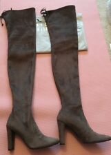 Auth Stuart Weitzman AllLegs Swamp Ultrastretch Over Knee Boot Size 6.5M Mint