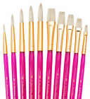 ROYAL LANGNICKEL -SVP5- 10 BRUSHES PACK - IDEAL FOR WATERCOLOUR, OIL AND ACRYLIC