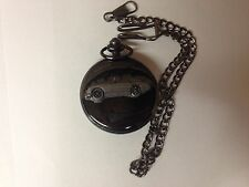 Austin Healey Frog Eye Sprite ref16 emblem polished black case mens pocket watch