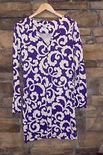 Diane von Furstenberg Spiral Ferns Reina Silk Jersey Shift Dress Sz 8 $348 EUC