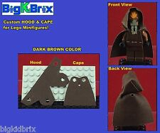HOOD & CAPE (DARK BROWN) Custom made for LEGO Minifigures PRICE gets 2 SETS #2