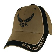 U.S. Air Force Wings Two Toned Hat - USAF Coyote Brown Baseball Cap 6663