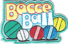 """BOCCE BALL"" PATCH - Iron On Embroidered Patch -Sports, Competition, Games"