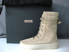 YEEZY SEASON 2's AUTH Calfskin Suede Tonal Laces Rubber Crepe Sole Boots 40