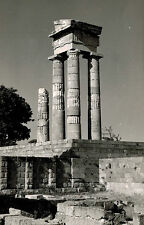 RPPC,Rhodes,Greece,Temple of Apollo,Used,2 Greek Stamps,1956