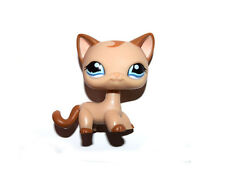 Littlest Pet Shop Blue Eyes Brown Hair Tan Cat Loose Figure Child Girl Toy
