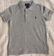 New Ralph Lauren Boys Grey Cotton Polo-shirt 2T/2Y