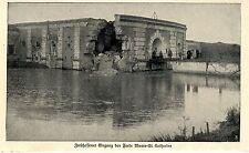 1914 Belgien Antwerpen Zerschossener Eingang des Forts Wavre-St-Catherine *  WW1