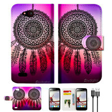 Dream Catcher Wallet TPU Case Cover For Telstra 4GX Buzz -- A027