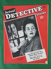 Vintage ACTUAL DETECTIVE STORIES Magazine Nov.1942 This Wasn't Her Soldier Boy