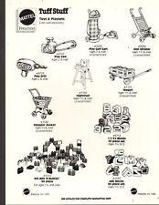 1980 VINTAGE AD SHEET #1370-  MATTEL TOYS - TUFF STUFF PLAYSETS