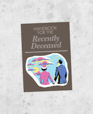 "Beetlejuice Sticker! ""Handbook for the Recently Deceased"" tim burton, prop, jour"