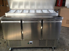 IGLOO SALADETTE PIZZA BAR PREP  BENCH FRIDGE 3 DOORS 7 TRAYS 1360mm LONG PS-300