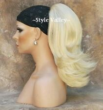 CLASSIC Blonde Ponytail Straight Reversible Drawstring Extension Hair Piece #613