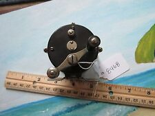 Hendryx raised pillar Black rubber/Nickle/brass fishing reel Pat. 1878-88 (8468)