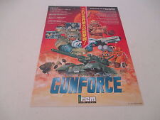 GUN FORCE GUNFORCE ARCADE IREM SHOOT ORIGINAL JAPAN HANDBILL FLYER CHIRASHI!