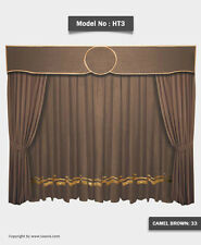 Saaria Stage Home Theater Event Backdrop Movie Cinema Velvet Curtains 8'W x 8'H