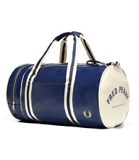 Fred Perry Bags - Classic Barrel Bag - Navy - Ecru - L4305 - 635 - Holdall - Gym