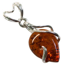 CHARMING NATURAL BALTIC AMBER 925 STERLING SILVER PENDANT
