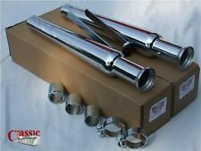 Straight Tulip Style Silencers Ideal For BSA Cafe Racers