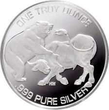 2015 Bull And The Bear BU 1 oz .999 Silver Round - USA AMERICAN BULLION COIN
