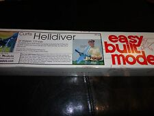 Helldiver #FF72 Easy Built Balsa Wood Model Airplane Kit Rubber Powered