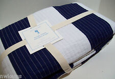 Pottery Barn Kids Navy Blue Rugby Stripe Twin Quilt New