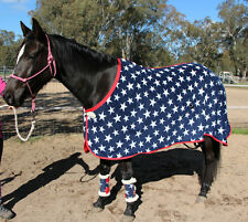 CAPRIOLE HORSE POLAR FLEECE STARS 4'0 MINI / MINIATURE RUG