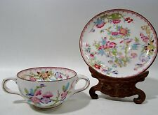 Old MINTON China Globe Mark 3934 CUCKOO 6 Bouillon Soup Cups Saucers CHINOISERIE