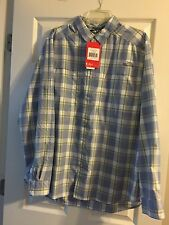 The North Face Sleeve Traverse Plaid Shirt Limoges Blue Plaid Men's Long Sleeve