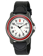 Victorinox Swiss Army Men's Black Nylon Strap Watch 249088 NEW IN BOX!!