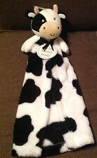 Cutie Pie Cow Lovey Black & White Soft Baby Security Blanket for Boy or Girl NEW