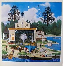 Jane Wooster Scott SALEM SHIPYARD Hand Signed Limited Edition Lithograph