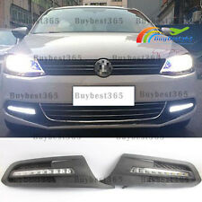 2x Xenon white LED Daytime Running Lights DRL For Volkswagen Jetta 2011-2014