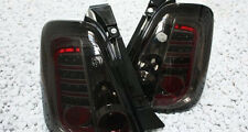 Black smoked finish LED rear tail lights for FIAT 500 from 2007