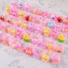 20Pcs Wholesale Mixed Lots Cute Heart Cartoon Children/Kids Resin Lucite Rings