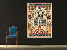 Vintage Sailor Jerry - Wanna Pee  Canvas Poster 24x36 Vintage