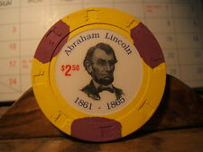 ABRAHAM LINCOLN $2.50 Token  1861 -1865 Colorful Collectable