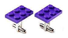 Purple LEGO (R) Cufflinks - Business Gift - Unique Gifts - Handmade - Gift Box