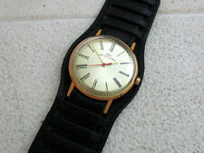 LUCH (BEAM) (VIMPEL) ULTRA SLIM VINTAGE USSR RUSSIAN AMAZING GOLD Men's WATCH
